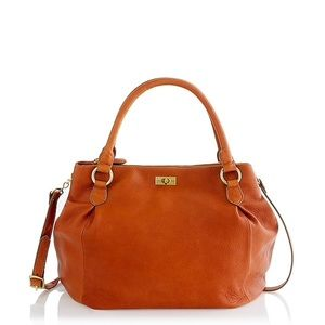 J. Crew Brompton Hobo in Cognac Leather